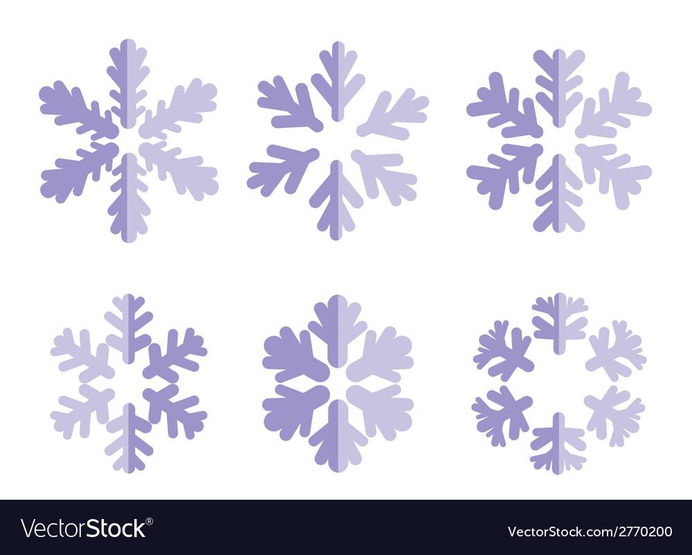 Snowflakes vector | Price: 1 Credit (USD $1)