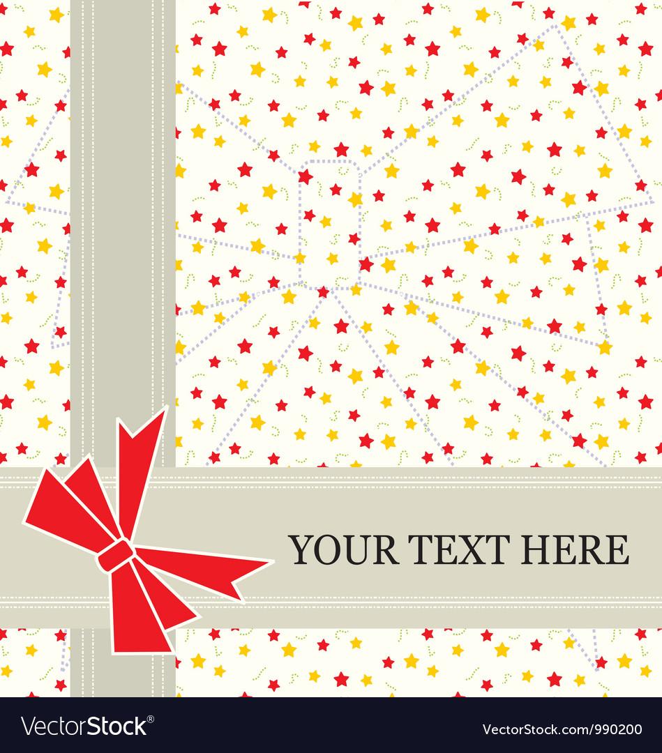 Star invitation card vector | Price: 1 Credit (USD $1)