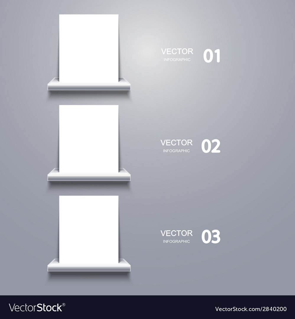 White blank on shelf infographic vector | Price: 1 Credit (USD $1)