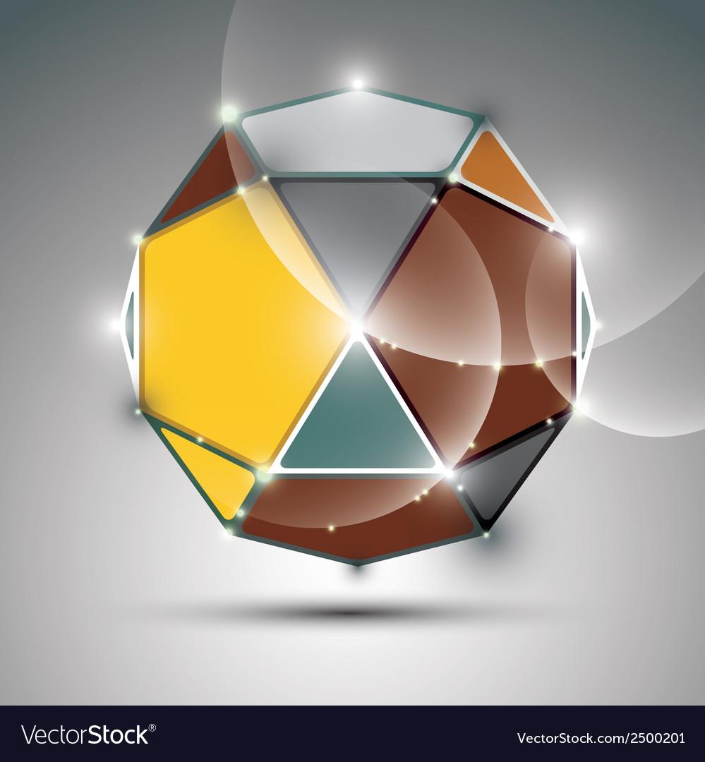 Celebration 3d metal shiny sphere fractal dazzling vector | Price: 1 Credit (USD $1)