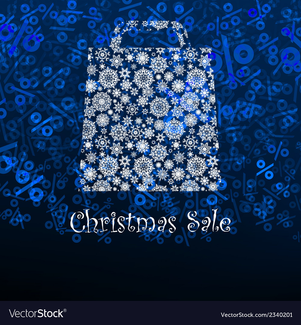 Christmas sale card with shopping bag eps 8 vector | Price: 1 Credit (USD $1)