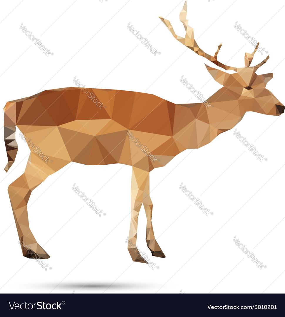Deer abstract vector | Price: 1 Credit (USD $1)