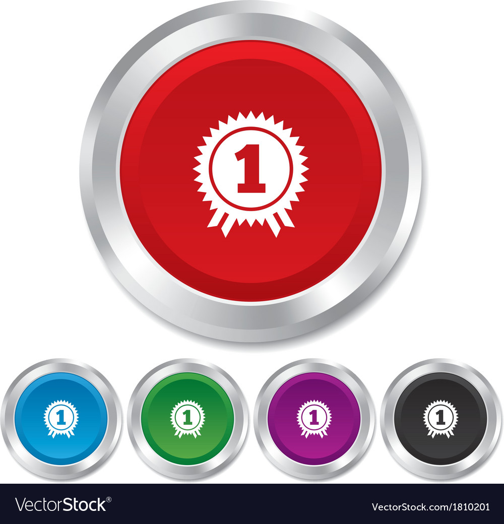 First place award sign icon prize for winner vector | Price: 1 Credit (USD $1)