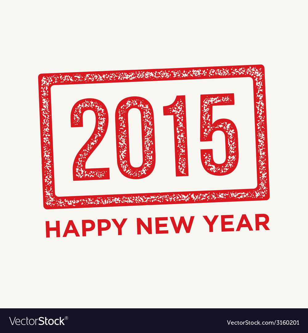 Happy new year rubber stamp vector | Price: 1 Credit (USD $1)
