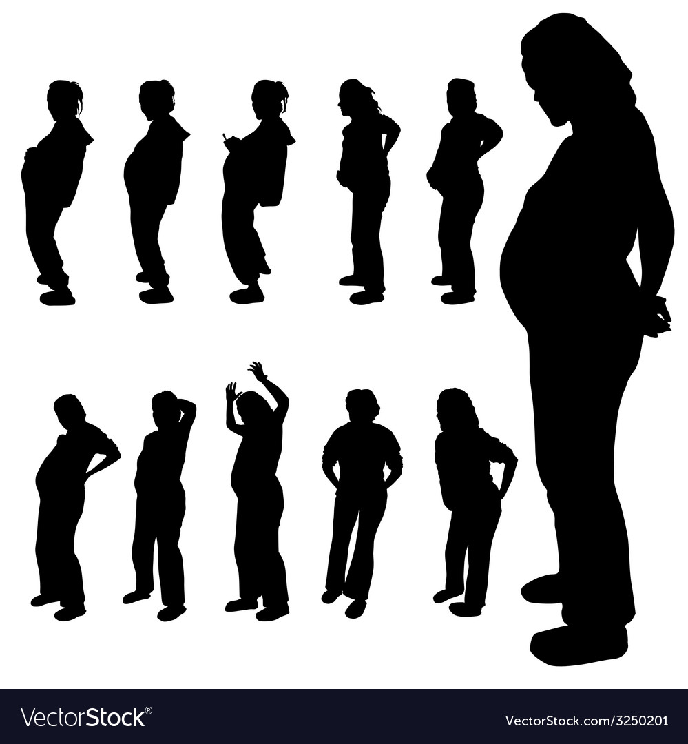 Pregnancy woman silhouette vector   Price: 1 Credit (USD $1)
