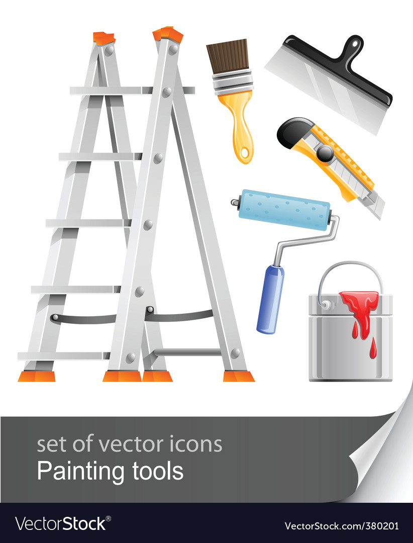 Set painter tools vector | Price: 3 Credit (USD $3)