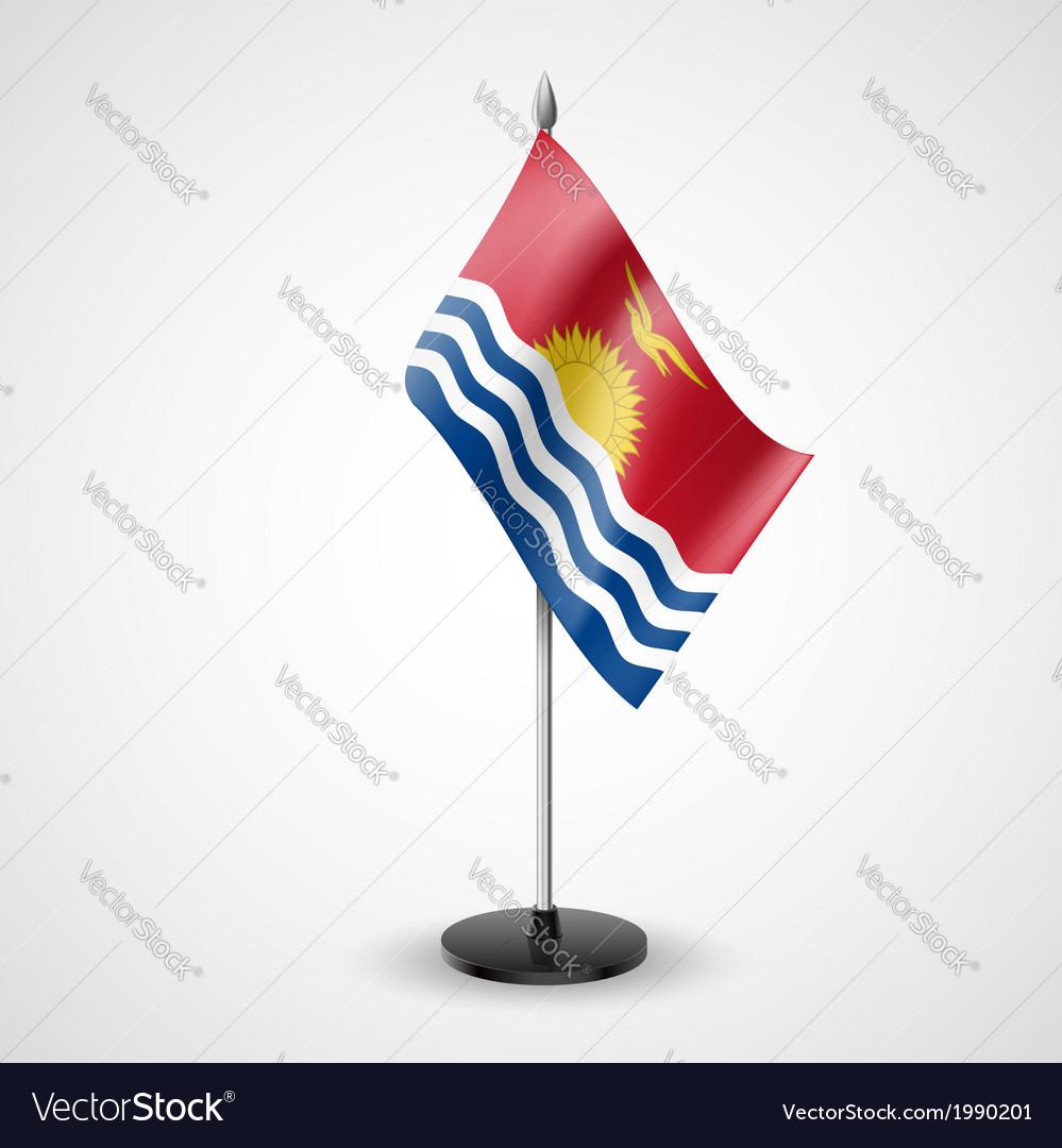 Table flag of kiribati vector | Price: 1 Credit (USD $1)