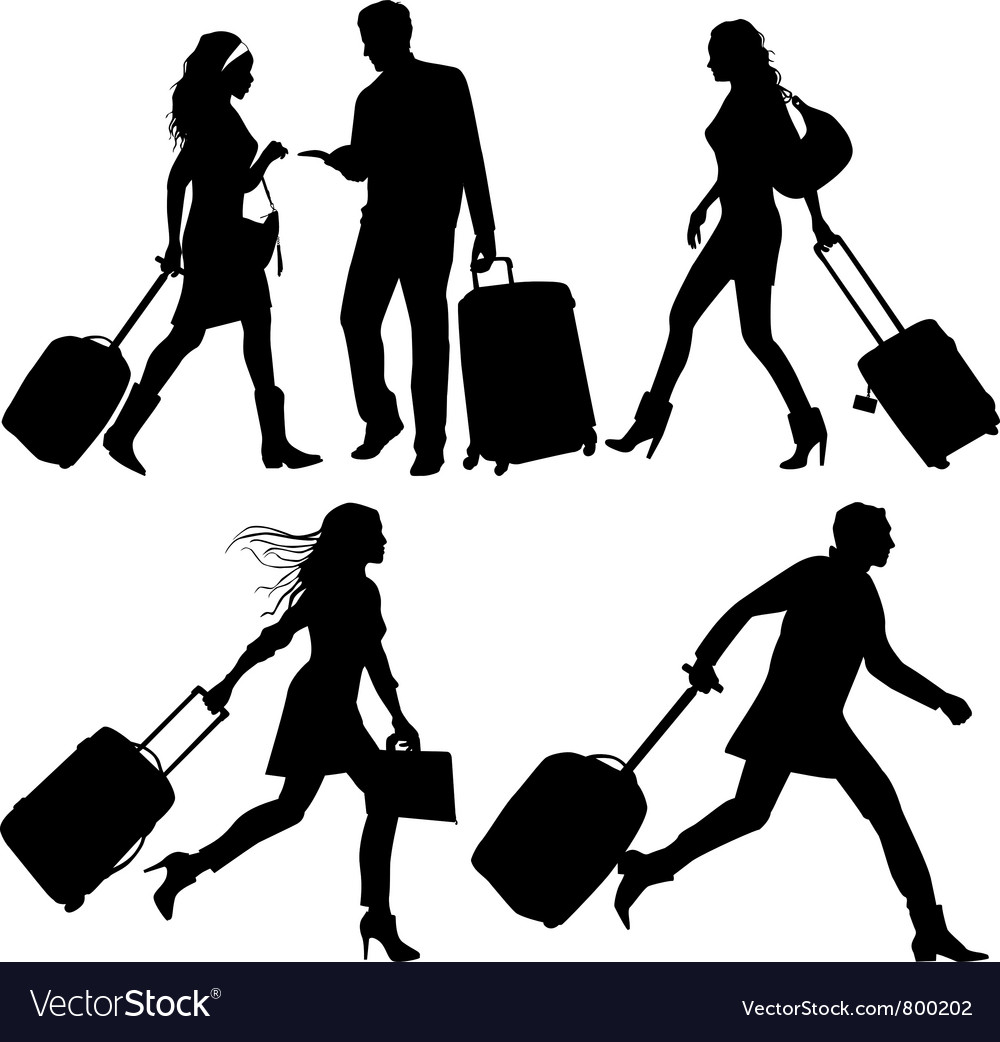 Airport travelers vector | Price: 1 Credit (USD $1)