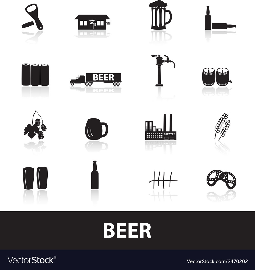 Beer icons eps10 vector | Price: 1 Credit (USD $1)
