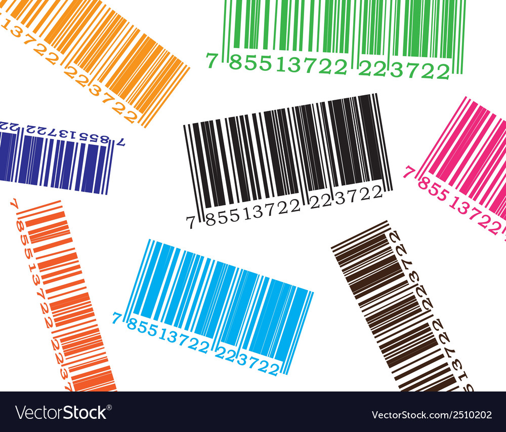 Color barcode vector | Price: 1 Credit (USD $1)