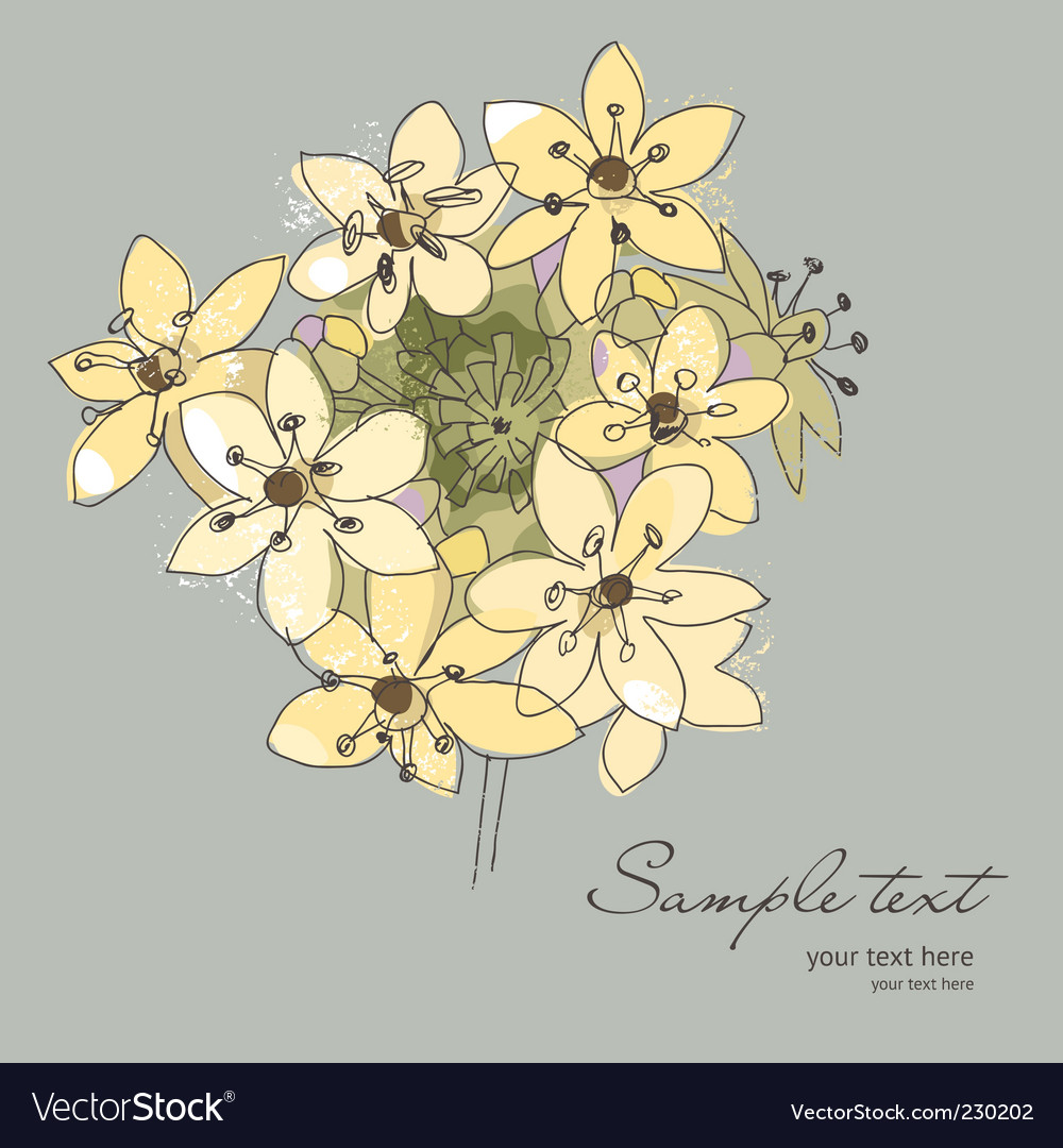 Flowers for your greeting card vector | Price: 1 Credit (USD $1)