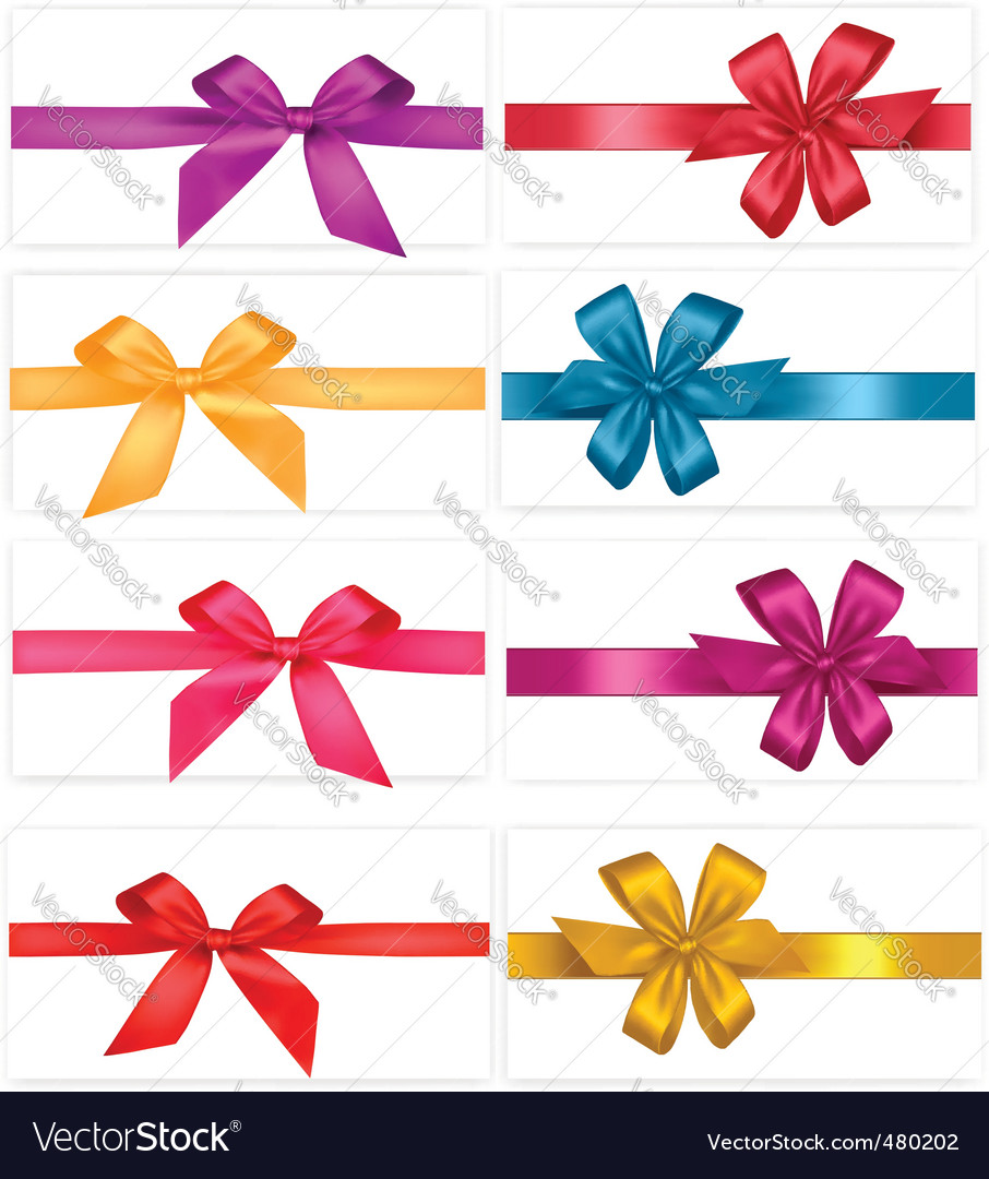 Gift-wrap ribbons vector | Price: 1 Credit (USD $1)