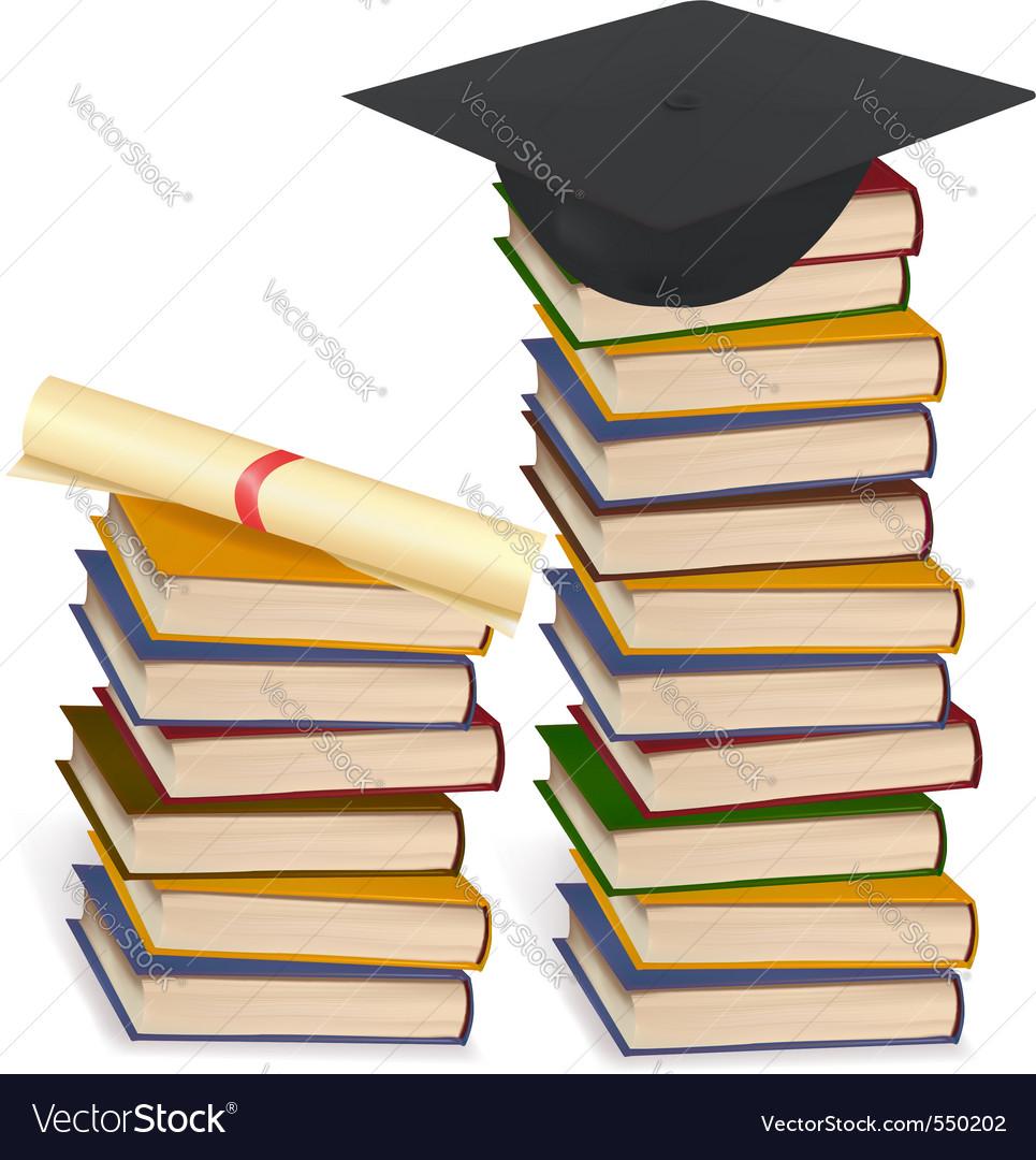 Graduation cap and diploma lay vector | Price: 3 Credit (USD $3)