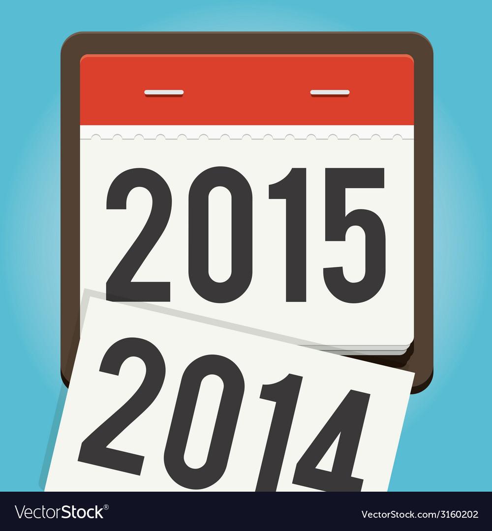 Happy new year 2015 calendar vector | Price: 1 Credit (USD $1)