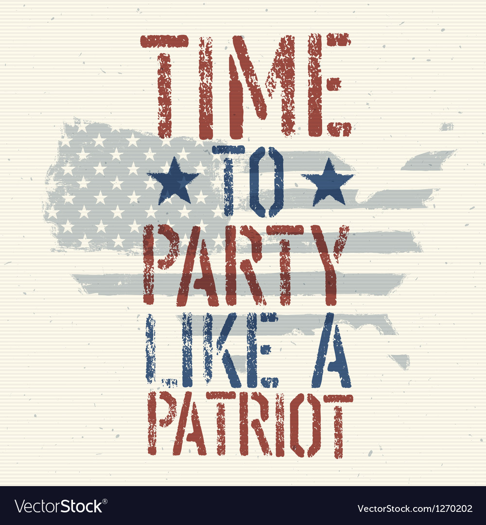 Patriot party vector | Price: 1 Credit (USD $1)