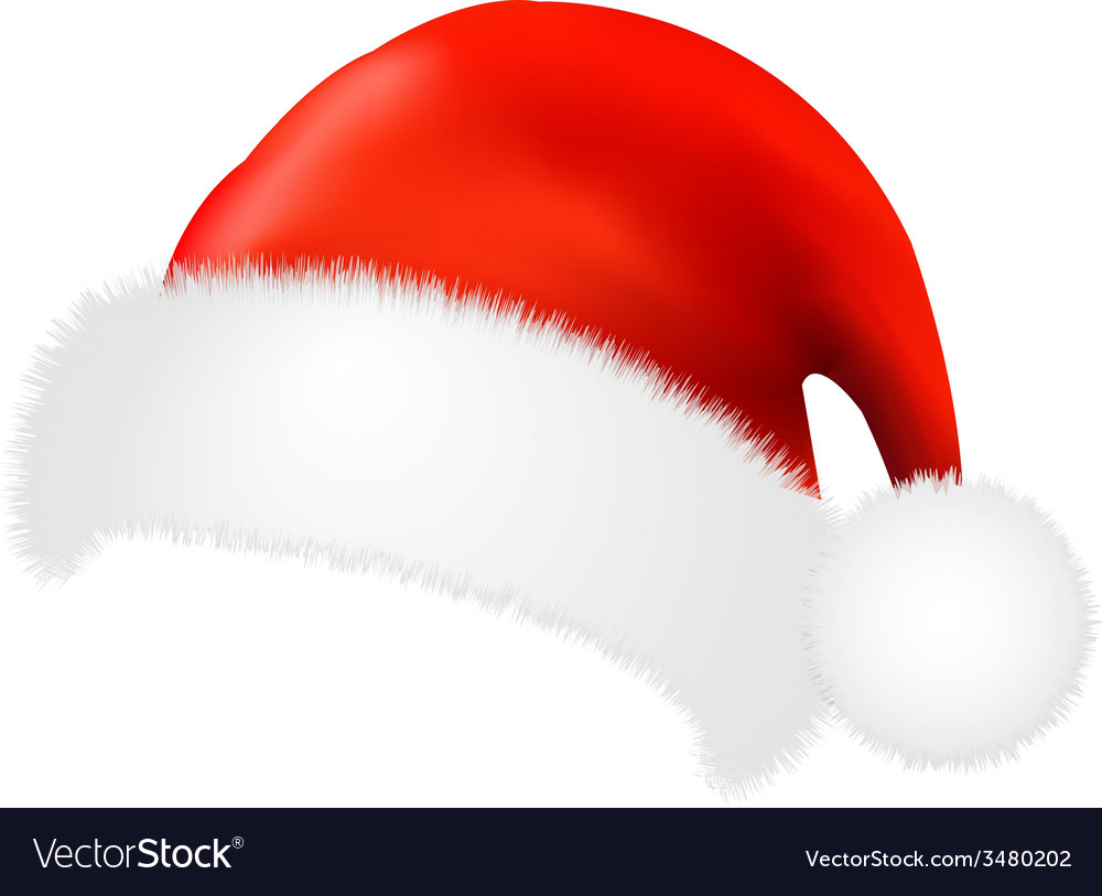 Santa claus cap vector | Price: 1 Credit (USD $1)
