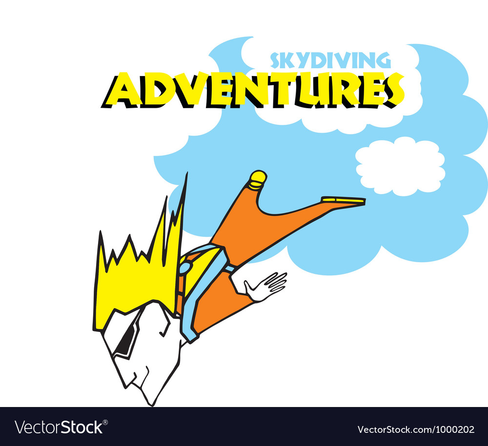 Skydiving adventures vector | Price: 1 Credit (USD $1)