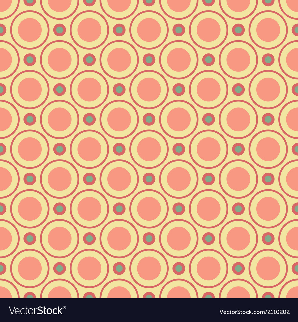 Vintage different seamless patterns tiling vector | Price: 1 Credit (USD $1)