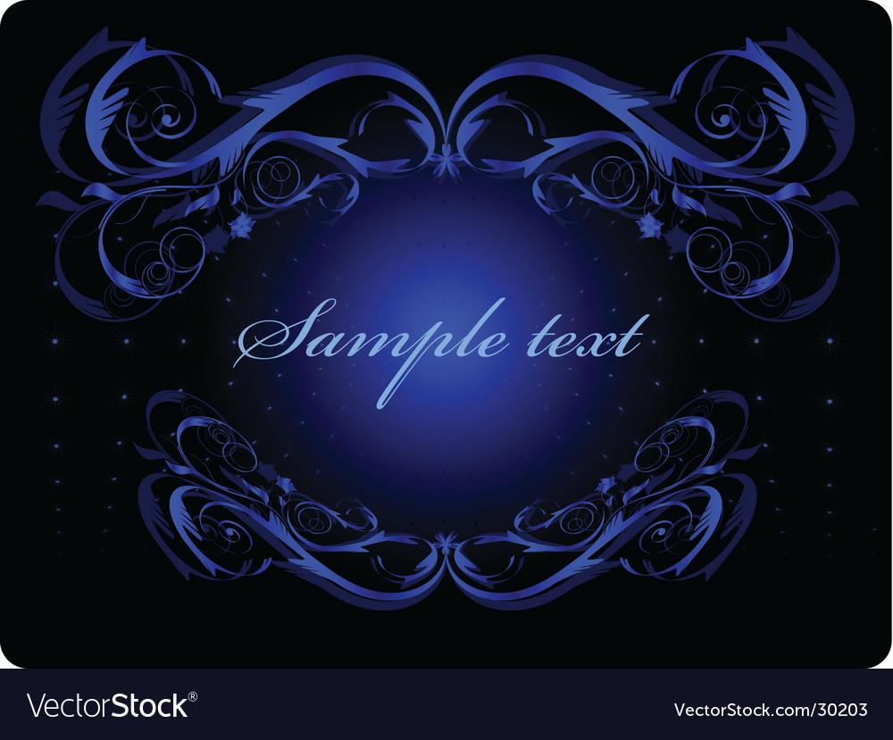 Blue ornament vector | Price: 1 Credit (USD $1)