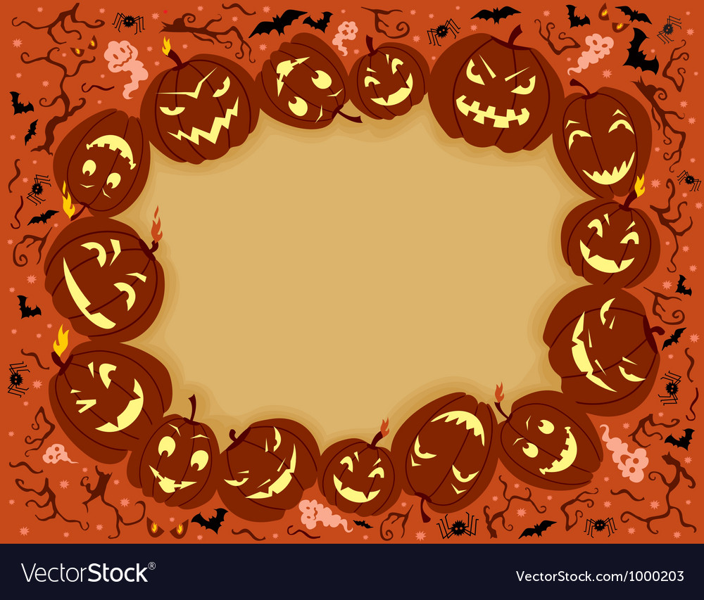 Happy halloween frame vector | Price: 1 Credit (USD $1)