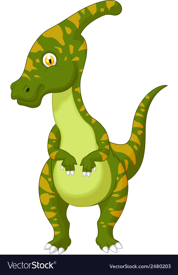 Parasaurolophus cartoon vector | Price: 1 Credit (USD $1)