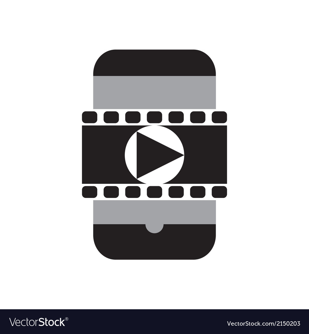 Smart phone movie vector | Price: 1 Credit (USD $1)