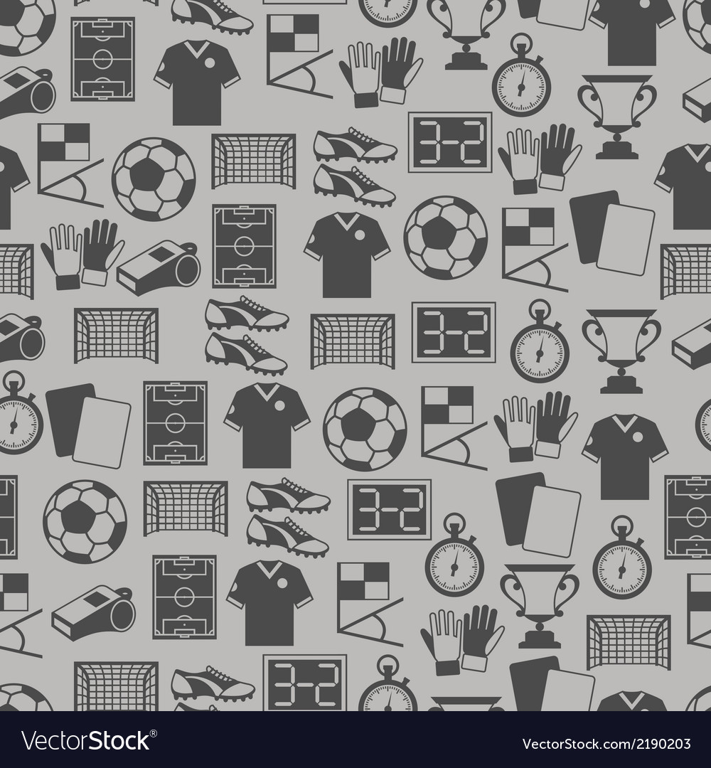 Sports seamless pattern with soccer football icons vector | Price: 1 Credit (USD $1)