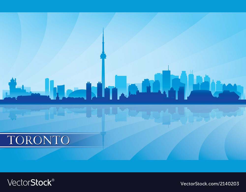 Toronto city skyline silhouette background vector | Price: 1 Credit (USD $1)