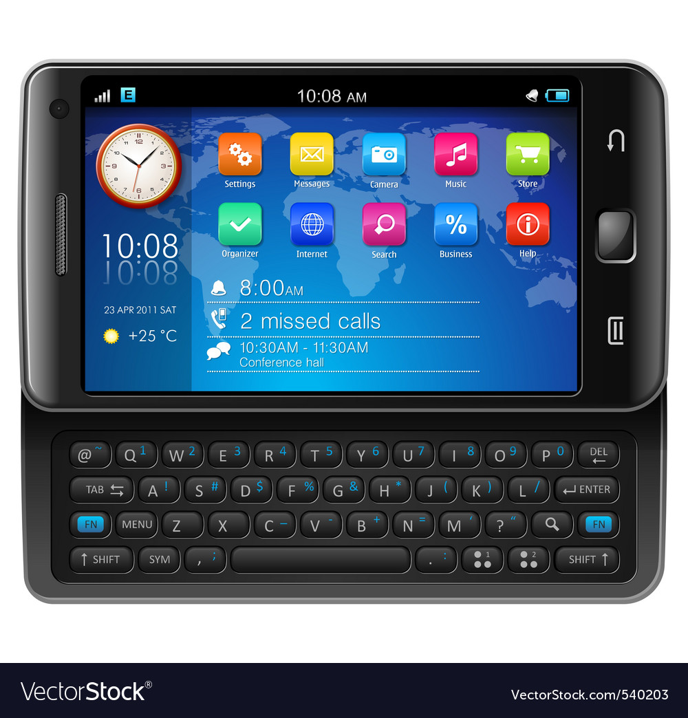 Touchscreen smartphone vector | Price: 3 Credit (USD $3)
