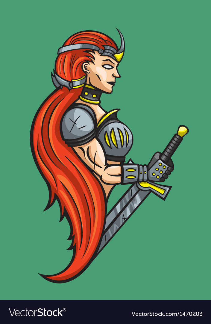 Warrior girl vector | Price: 3 Credit (USD $3)