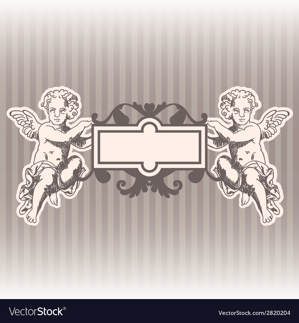 Angels in style of a baroque vector | Price: 1 Credit (USD $1)