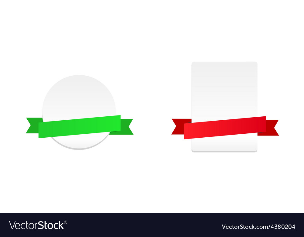 Banners with ribbon vector | Price: 1 Credit (USD $1)