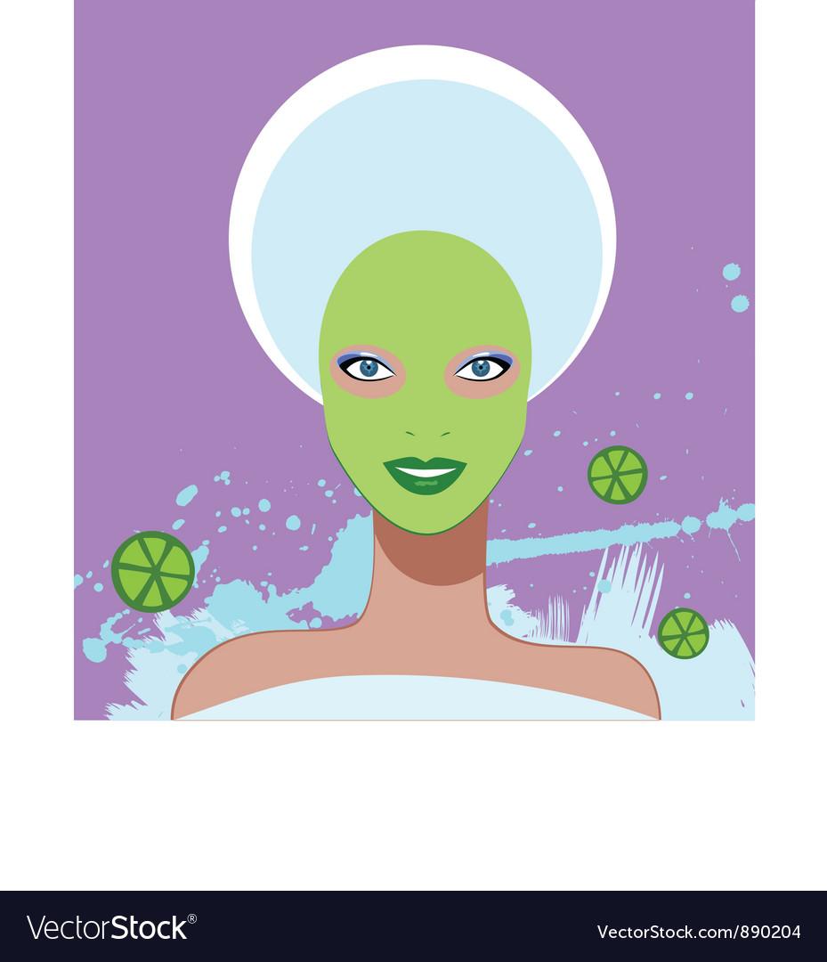 Beautiful woman spa facial mask vector | Price: 1 Credit (USD $1)