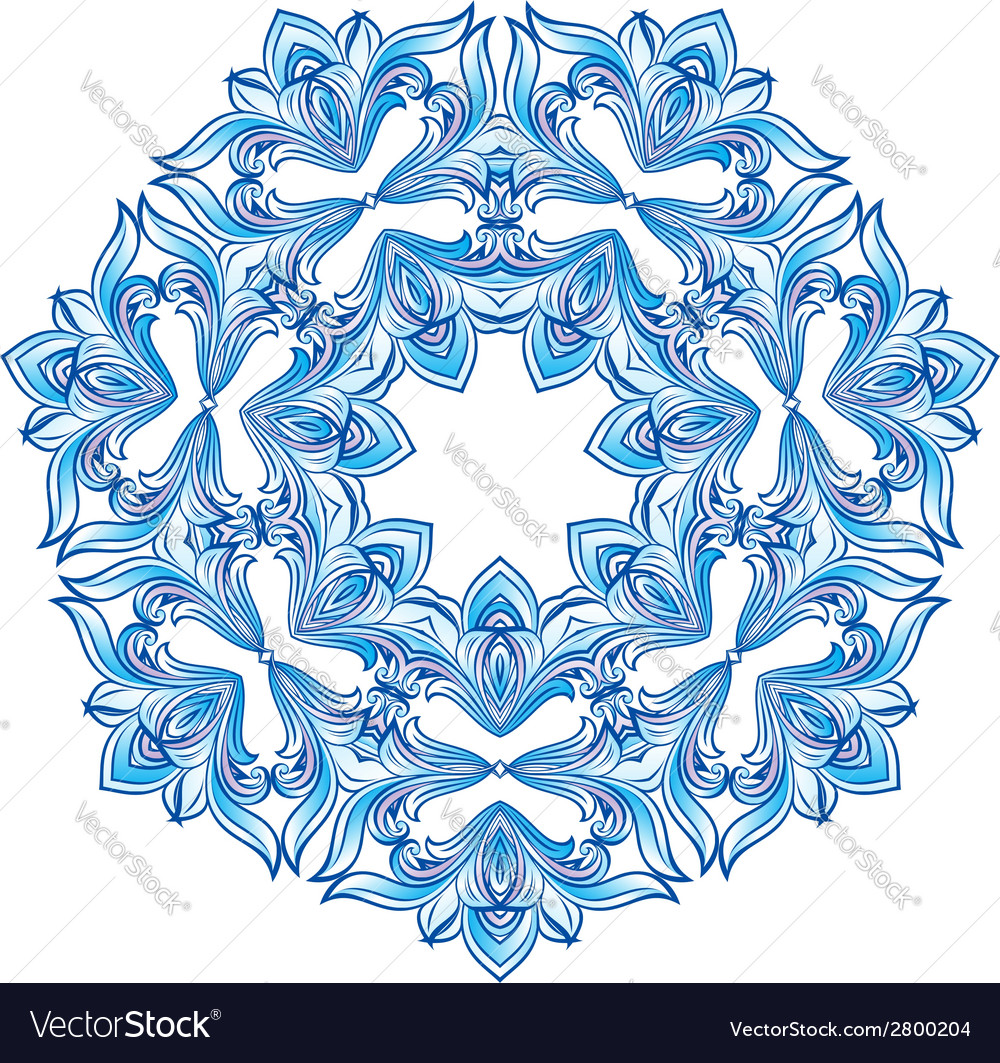 Blue snowflake vector | Price: 1 Credit (USD $1)