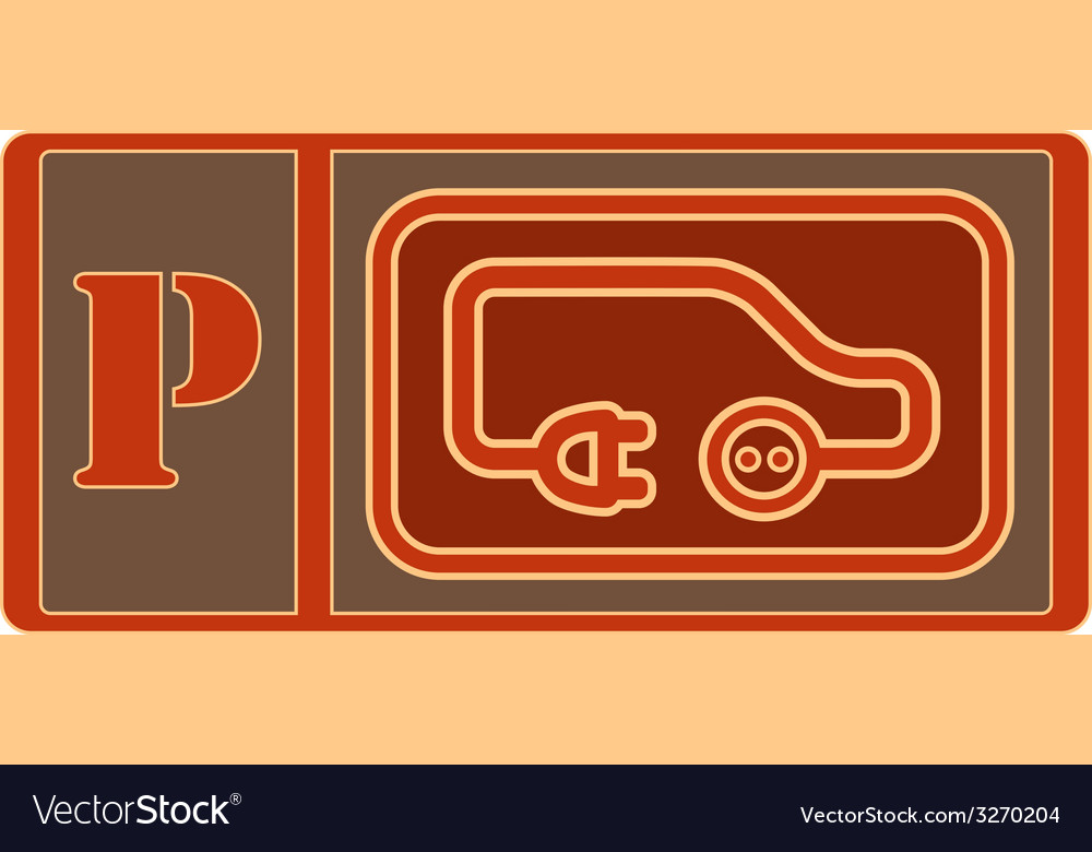 Electrical vehicle parking sign vector | Price: 1 Credit (USD $1)