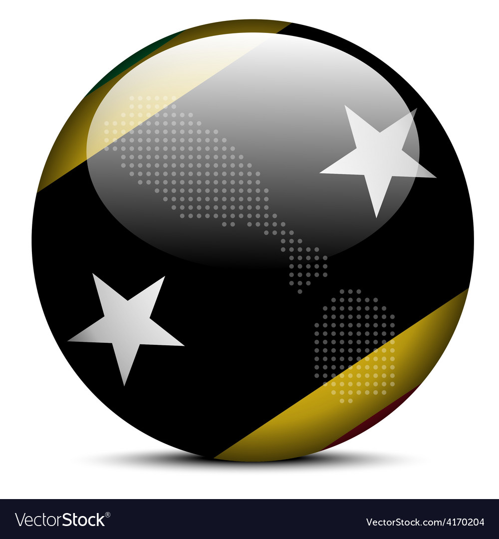 Federation of saint kitts and nevis vector | Price: 1 Credit (USD $1)