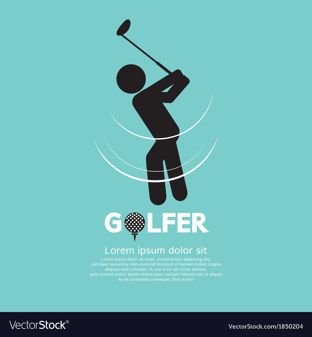 Golfer vector | Price: 1 Credit (USD $1)