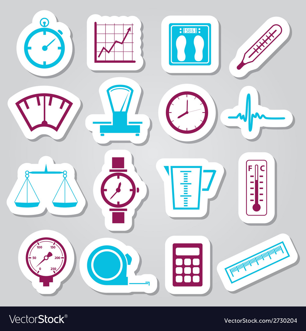 Measuring stickers vector | Price: 1 Credit (USD $1)