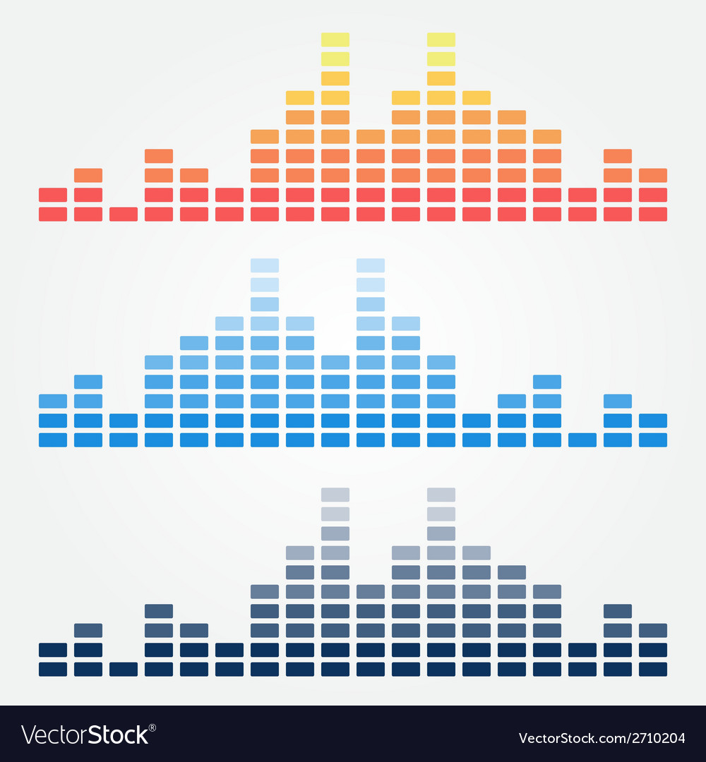 Minimal sound waves icons vector | Price: 1 Credit (USD $1)