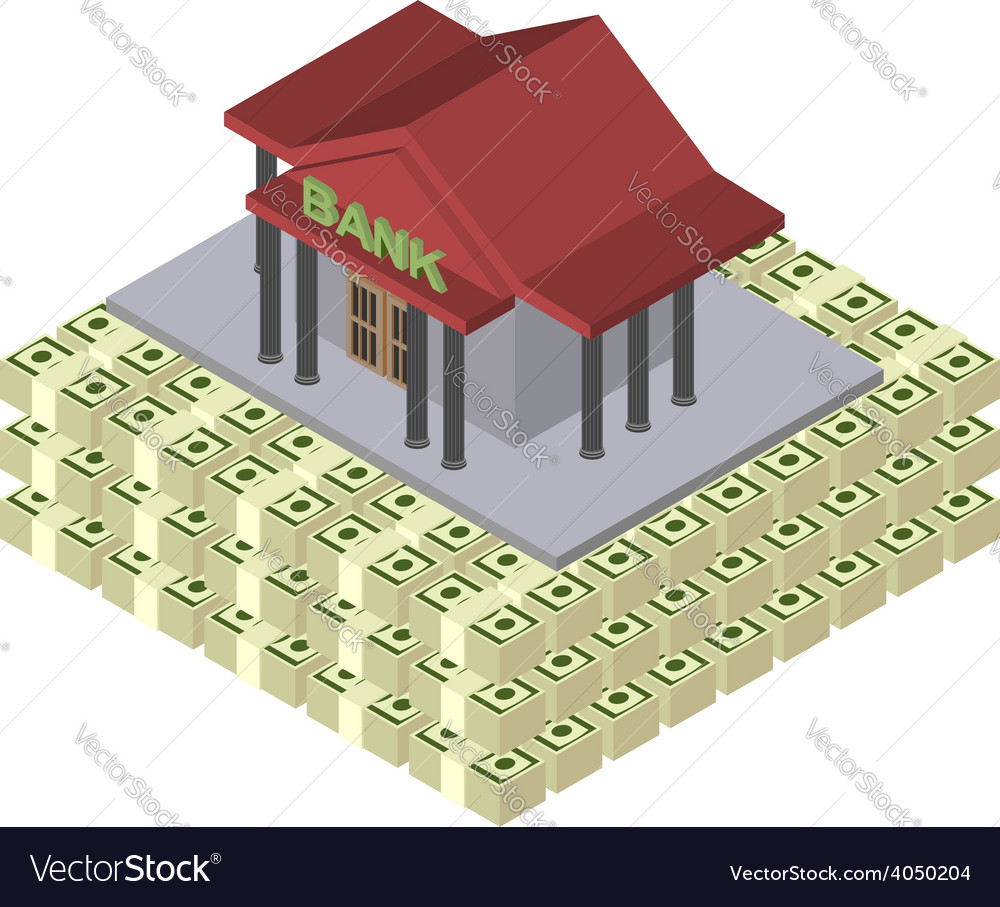 The pyramid of bank money the guarantee of vector | Price: 1 Credit (USD $1)