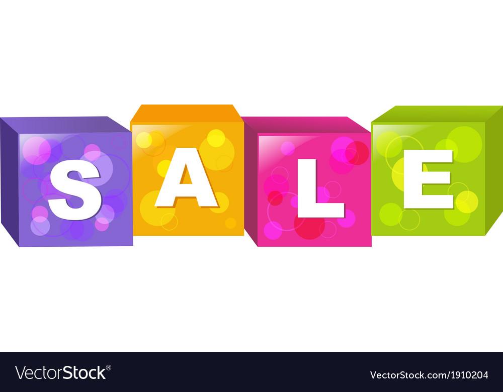 Sale cube vector | Price: 1 Credit (USD $1)