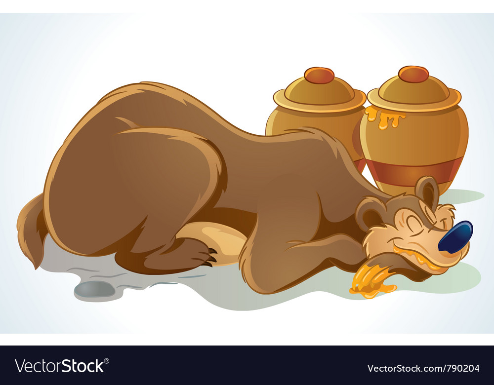 Sleeping bear vector | Price: 5 Credit (USD $5)