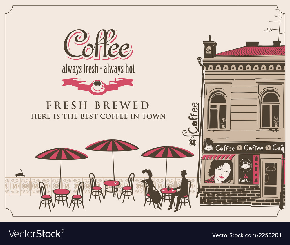 Street cafes vector | Price: 1 Credit (USD $1)