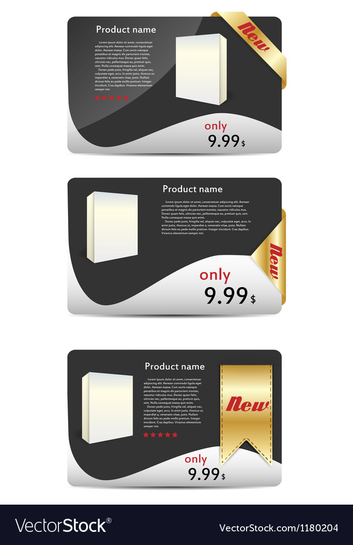Template for new product banner vector | Price: 1 Credit (USD $1)