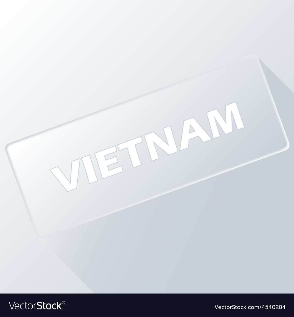 Vietnam unique button vector | Price: 1 Credit (USD $1)