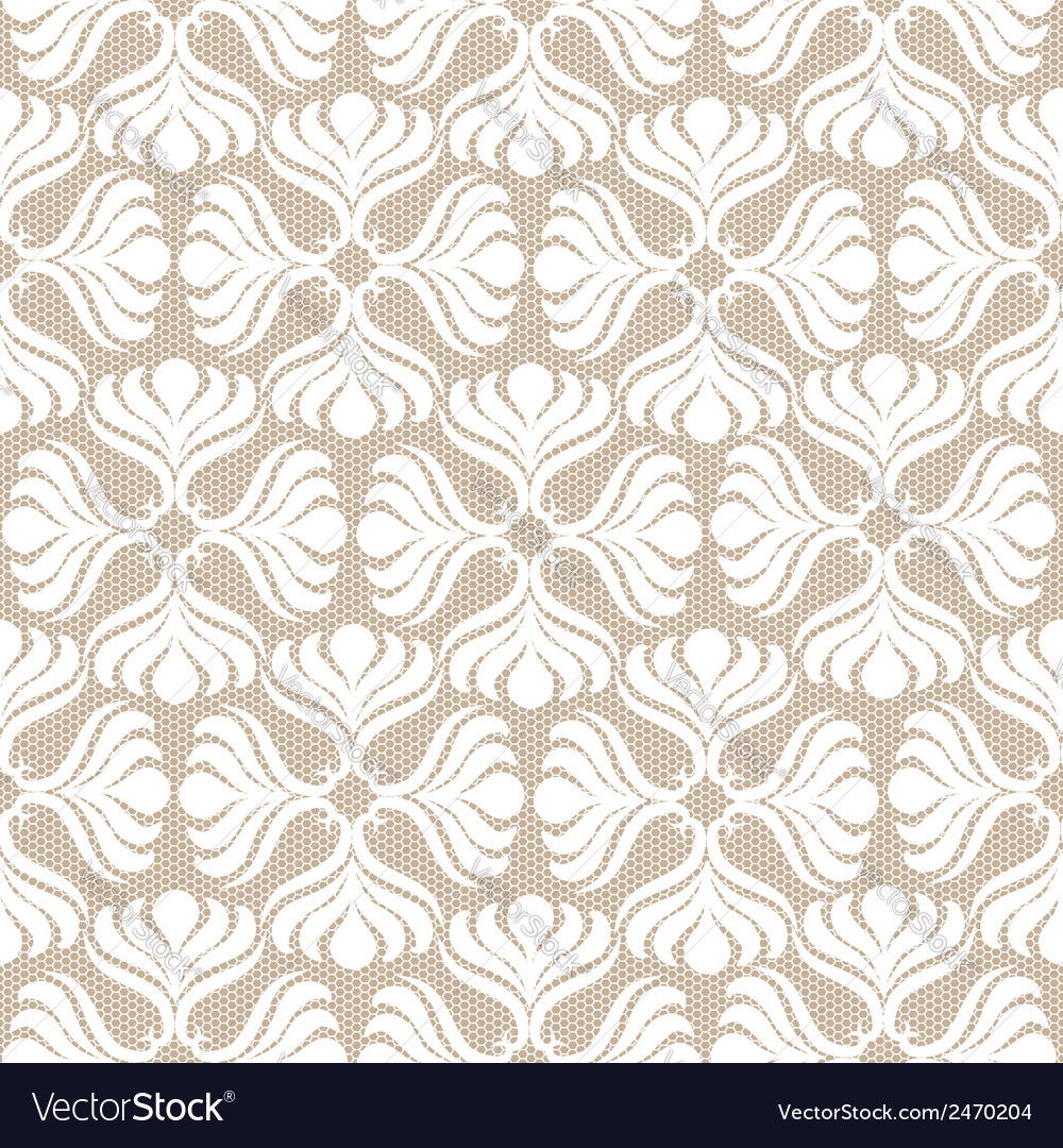 White lace seamless pattern vector   Price: 1 Credit (USD $1)
