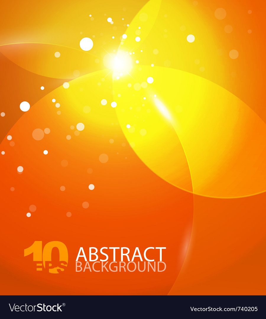 Abstract orange sky background vector | Price: 1 Credit (USD $1)
