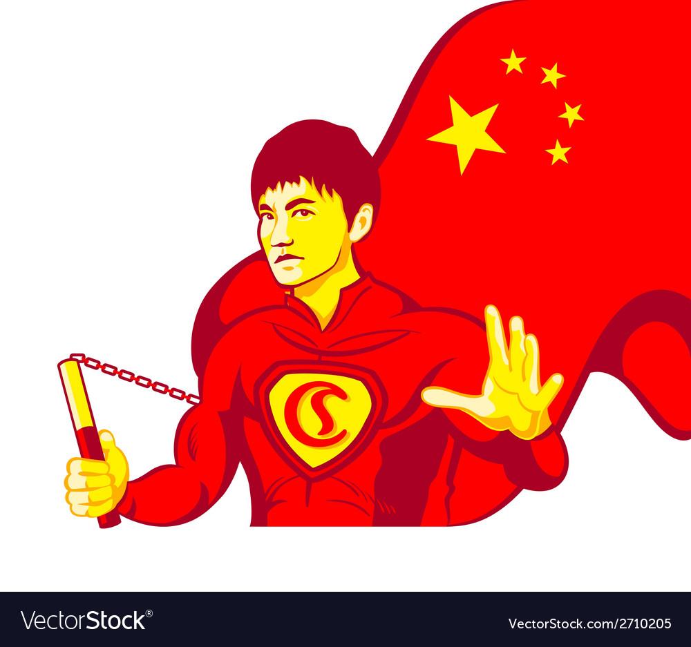 China superman vector | Price: 1 Credit (USD $1)
