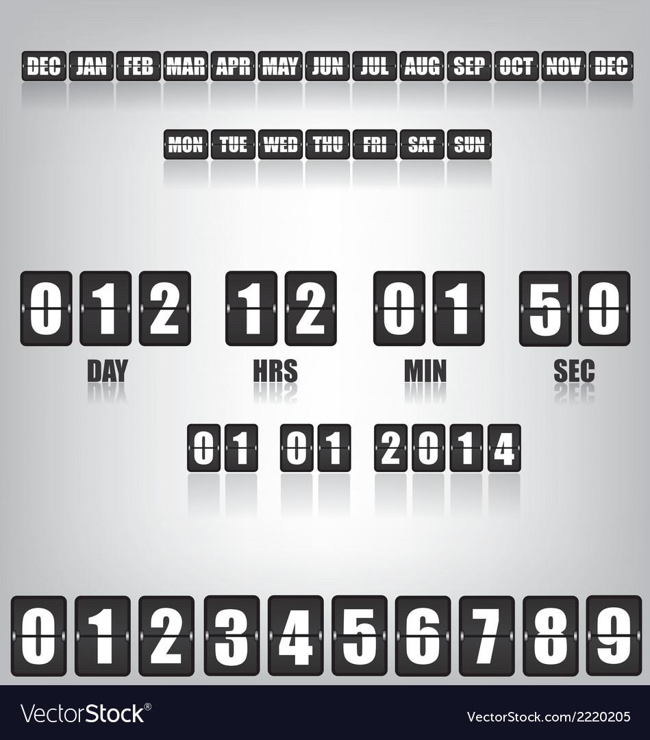 Countdown timer and date vector | Price: 1 Credit (USD $1)