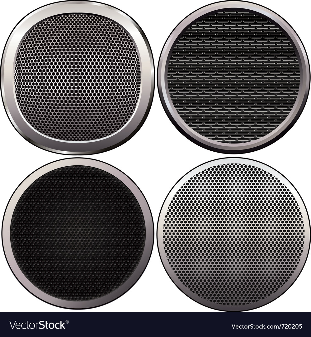 Four round speakers grilles vector | Price: 1 Credit (USD $1)
